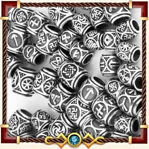 Шармы и бусины с рунами из серебра и золота в Грозном